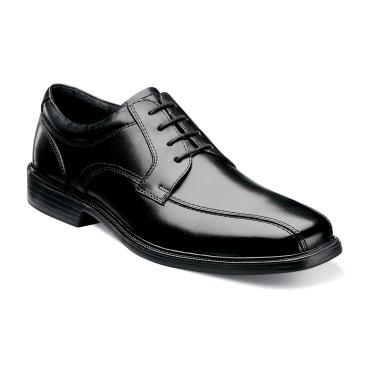 Florsheim Rally Bike Toe Oxford Black Leather