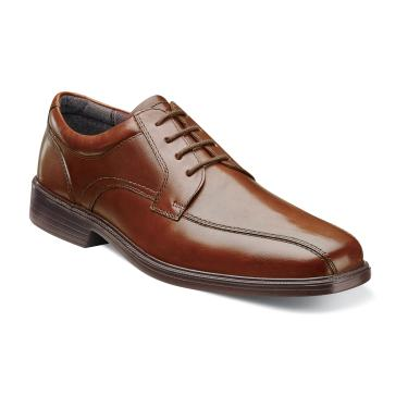 Florsheim Rally Bike Toe Oxford Cognac Leather