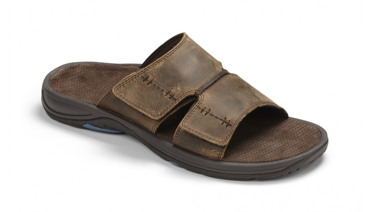 Vionic Jon Slide Sandal Brown