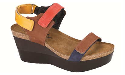 NAOT MIRACLE BROWN/ORANGE/SUNSHINE/NAVY