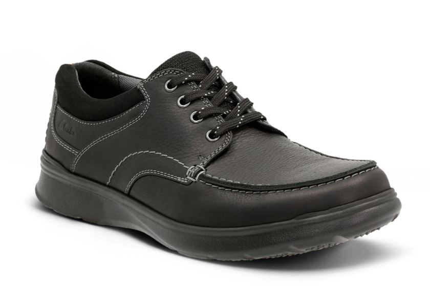 Clarks Cotrell Edge Black Oily Leather