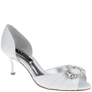 Nina Shoes Crystah White Satin