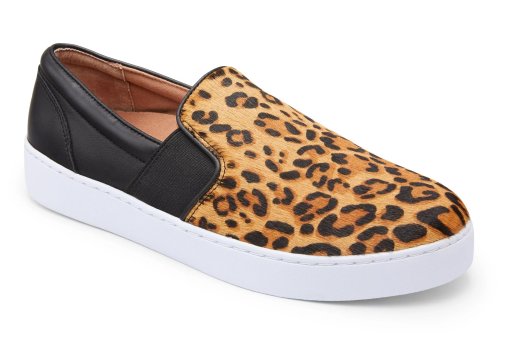 Vionic Demetra Slip On Tan Leopard