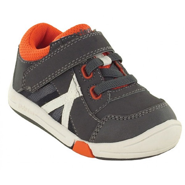 Jumping Jacks Finish Line Dark gray with red trim