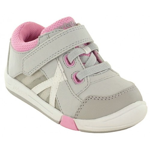 Jumping Jacks Finish Line Grey & Pink Trim