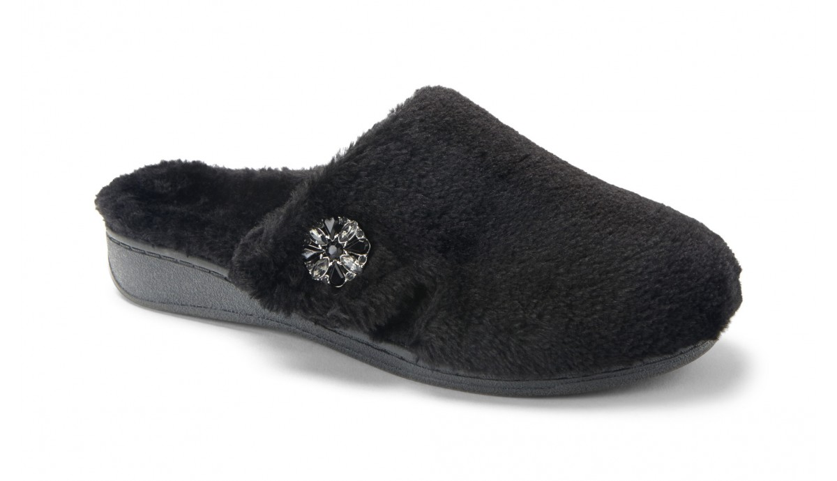 Gemma Lux Black Slipper