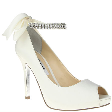 Nina Shoes Karen Ivory Luster Satin