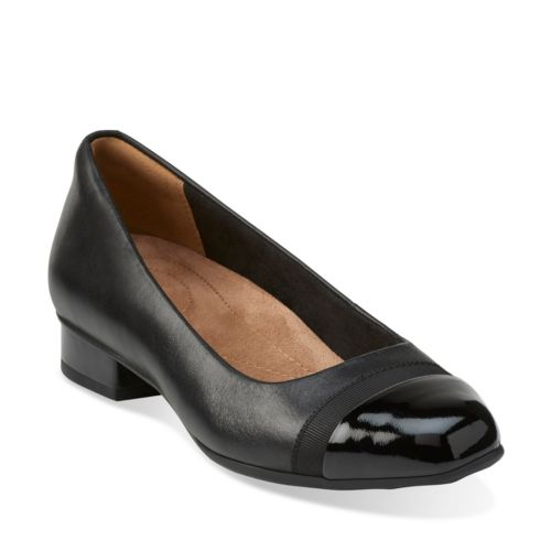 Clarks Keesha Rosa Black Leather/ Patent