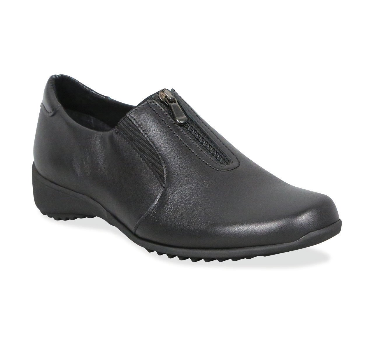 Munro Berkley Black Leather