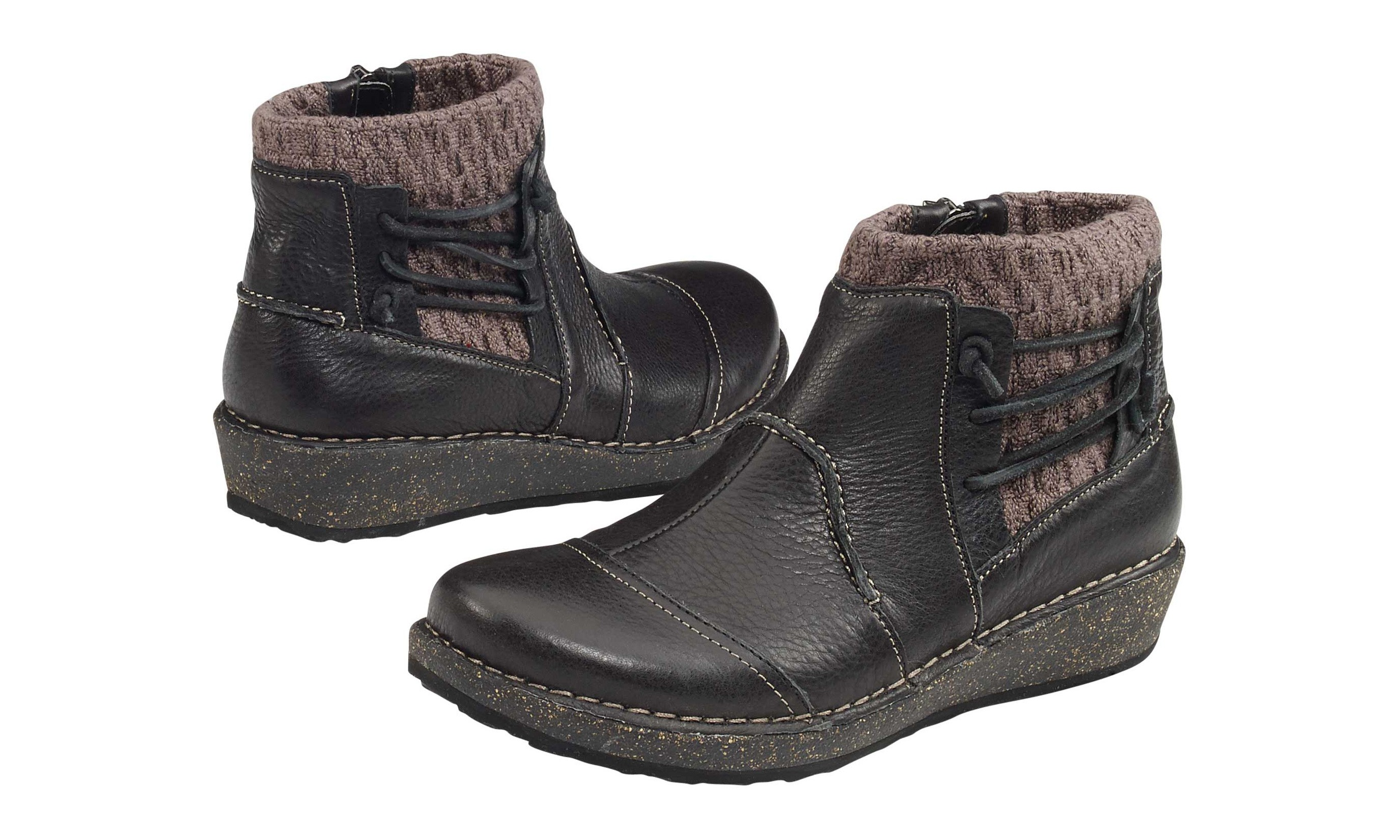 Aetrex Tessa Short Sweater Boot Black